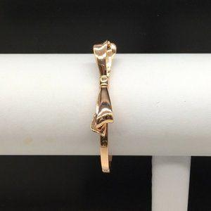 Kate Spade Rose Gold Tone Bow Bangle Bracelet